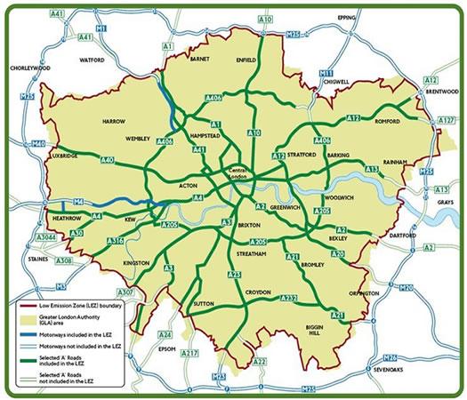 Scrap Car London Lez Low Emission Zone London